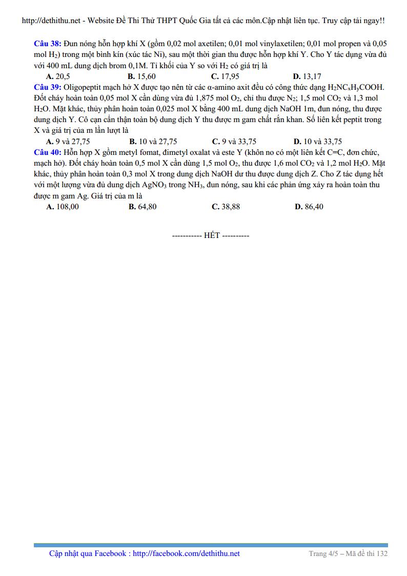 De thi thu Hoa THPT Chuyen Vinh 2018 lan 1 dap an chi tiet trang 4